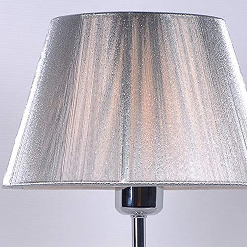 XXYHYQHJD Table Lamps Creative E27 Bedroom Fabric Crystal Table Lamp Villa Living Room Bedroom Bedside Table Lamps Silver Desk Lamp