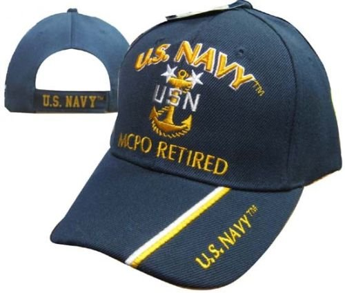 U.S. Navy MCPO Retired USN Ball Cap Hat Embroidered 3D (Licensed) 401E (Navy Retired Ball Cap)