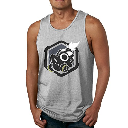 (Over Shoot Watch - POY-SAIN Fashion Men's Adults Tank Top Shirt SizeXL Ash)