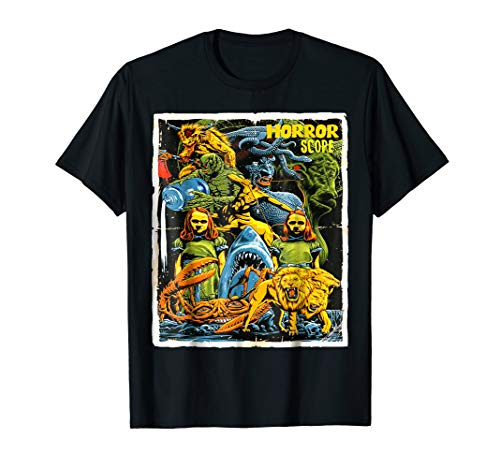 Price comparison product image Horror Scope Cool Horror Movies Collage T-Shirt
