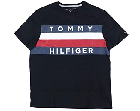 9a39925c4 Tommy Hilfiger Mens Large Graphic Flag Logo T-Shirt (Small, Black)