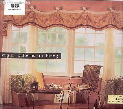 Amazon.com: Vogue 1856 Sewing Pattern Susan Stratton-Norris Window ...