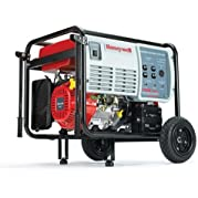Honeywell HW7500E 9375 Watt 15 HP 420cc OHV Portable Gas Powered Home Generator With Electric Start (Discontinued...