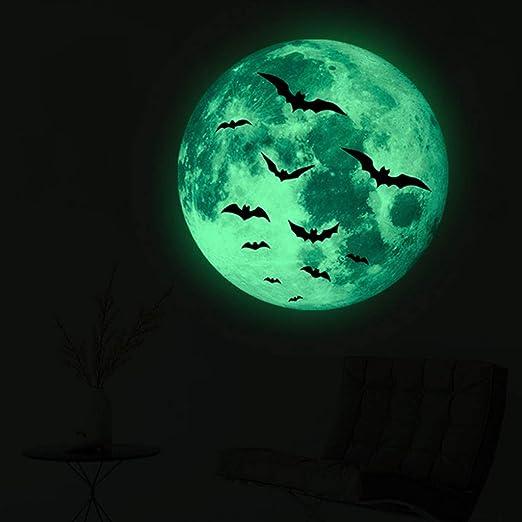 Halloween 2020 Wall Stickers Amazon.com: New 2020 Glow in The Dark Moon Stickers,Halloween