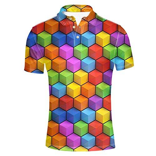 HUGS IDEA Fashion Mens Jersey Polos T-Shirt Short Sleeve