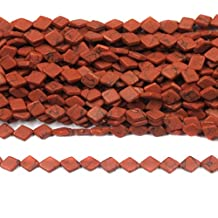 Beadsnfashion Jewelry Making Semiprecious Synthetic Beads Orange Barfi 10x8 mm, Pack Of 10 Strings