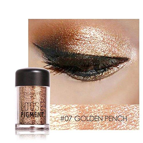 Eyeshadow, Hometom 12 Colors Eyeshadow Makeup Pearl Metallic Eye Shadow Palette (G) (Lip Kit Bronze)