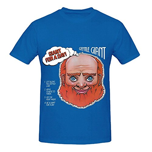 Giant Gentle Giant For A Day Pop Mens O Neck Customized T Shirts Blue