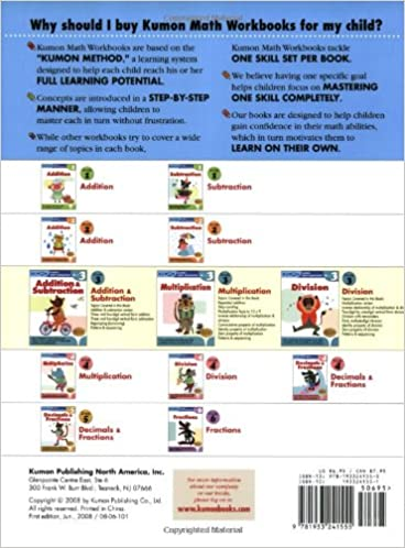Workbook 3 grade worksheets : Grade 3 Division (Kumon Math Workbooks): Kumon Publishing, Kumon ...