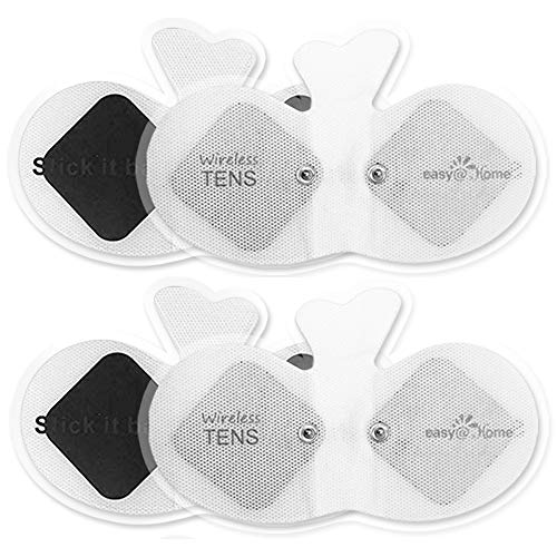 Easy@home Wireless Tens Unit Self Stick Carbon Electrode Pads, 4 Pack 6.5