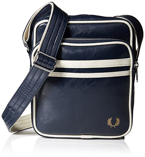 Fred Perry Men's Classic Side Bag, Navy/Ecru, One Size