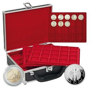 Lindner 2328 100 Münzen Sammelkoffer Für 100 St 10 Euro Münzen