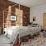 Novogratz Marion Canopy Bed, White, King
