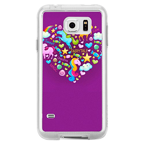 Image Of Fairytale Elements within a Heart on Purple Samsung Galaxy S6 Phone Case