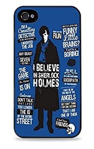 Sherlock Holmes Blue Black Hardshell Case for iPhone 4s i4s
