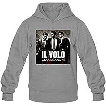 CHENGXINGDA Men's Il Volo Pop Trio Logo Hoodies L