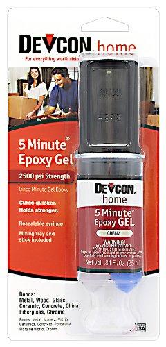 - Devcon (21045-6PK) 5-Minute Epoxy Gel - 25 ml Dev-Tube, (Pack of 6)