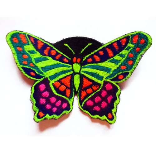 (ImZauberwald rainbow butterfly patch UV active flower power)