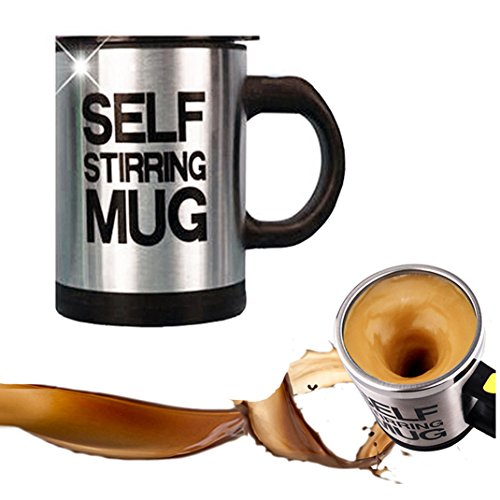 Self Stirring Mug Coffee Cup - Mengshen Electric Stainless Steel Automatic Self Mixing & Spinning Cup, Best for Morning Travelling Home, Office Men and Women,MS-A004A ()