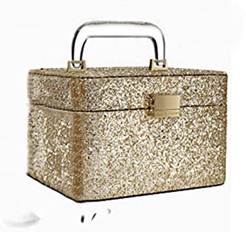 3bb60ad41a Image Unavailable. Image not available for. Color  Victoria s Secret  Limited Edition Gold Glitter Makeup Train Case