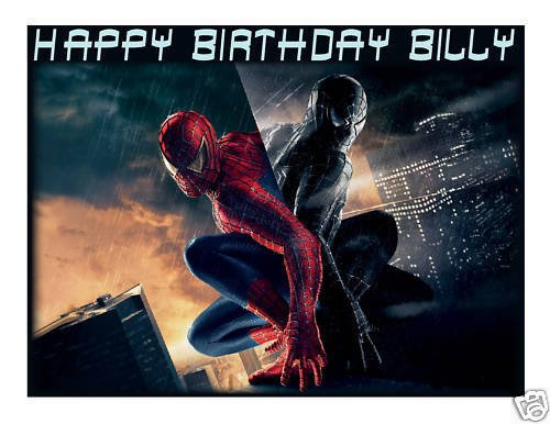 Spiderman 3 edible cake image topper frosting - Upc Wiki