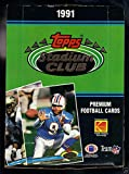 1991 Topps Stadium Club Football Set Wax Pack Box Brett Favre Rookie Card POSSBL
