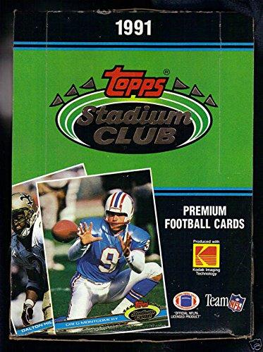 1991 Topps Stadium Club Football Set Wax Pack Box Brett Favre Rookie Card POSSBL