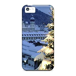 LJF phone case Durable Defender Case For iphone 4/4s Tpu Cover(illuminated Tree)