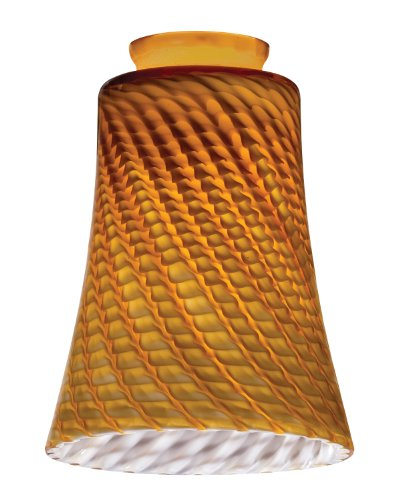 Lithonia Lighting DCBL 1009 M6 Decorative Concave Bell Shade, Amber (1009 Glasses)