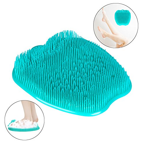 Shower Foot Massager Scrubber & Cleaner for Shower floor with Suction Cup Improves Foot Circulation & Reduces Foot Pain Green KIAYACI