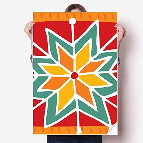 Civilization Sticker - DIYthinker Sun Flower Mexico Totems Ancient Civilization Vinyl Wall Sticker Poster Mural Wallpaper Room Decal 80X55cm