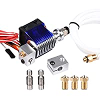 Wangdd22 E3D V6 Hot End Full Kit 1.75mm 12V Bowden/RepRap 3D Printer Extruder Parts Accessories 0.4mm Nozzle by Wangdd22