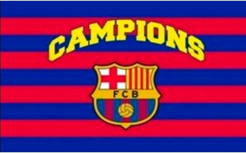 BANDERA FC BARCELONA CAMPIONS 150X100 CM: Amazon.es: Deportes y aire libre