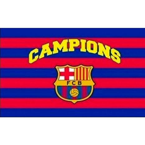 BANDERA FC BARCELONA CAMPIONS 150X100 CM  Amazon.es  Deportes y aire ... 9157005ab1a