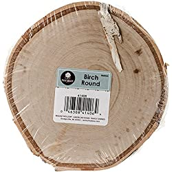 Walnut Hollow Medium Birch Round for Home Decorating and Rustic Weddings