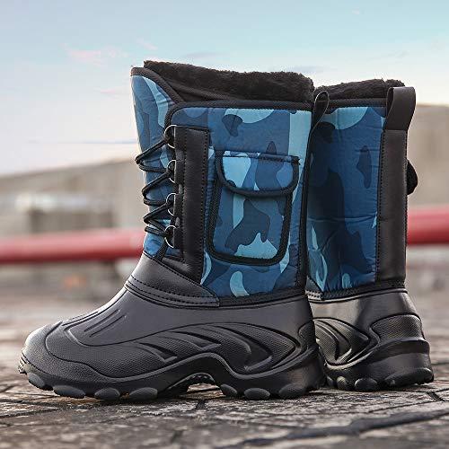 Tube Hommes lanskirt De Militaires Camouflage Plein Velours D'extérieur Neige En Au Décontractées Pour Froid Air Bleu Chaudes Résistantes Antidérapantes Bottes Az6Cq