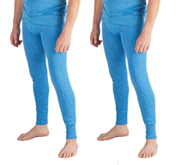2 Mens Thermal Underwear Long Johns Extra Extra Large Blue