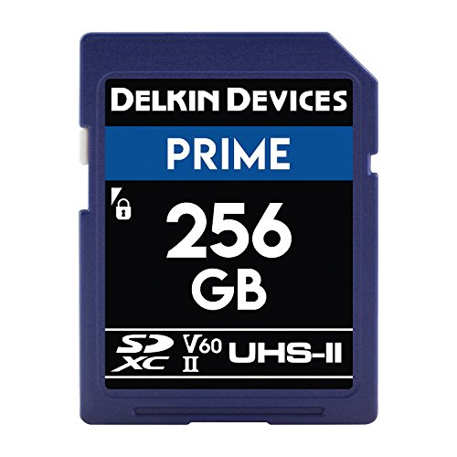 Delkin Devices 256GB Prime SDXC 1900X UHS-II (U3/V60) Memory Card (DDSDB1900256) by Delkin
