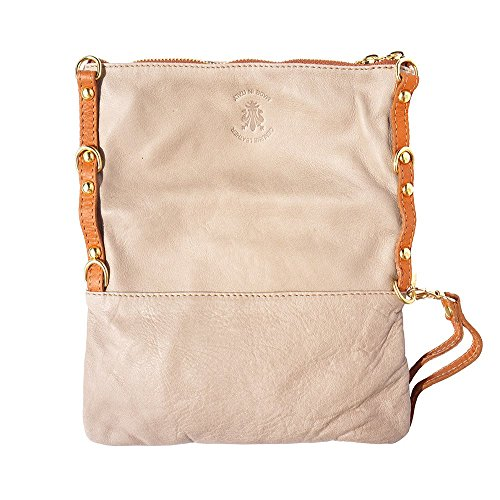 Florence Leather Pochette En 9603 Cuir Market Taupe cognac 6OxqH6gBnw