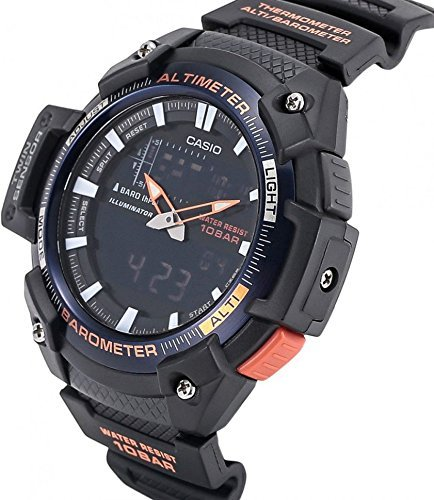 Amazon.com: Casio Mens Sports SGW450H-2B Black Rubber Quartz Watch: Casio: Watches