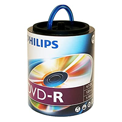 Philips DM4S6H00F/17 4.7GB 16X DVD-R Recordable Video Discs (Pack of 100) from Philips