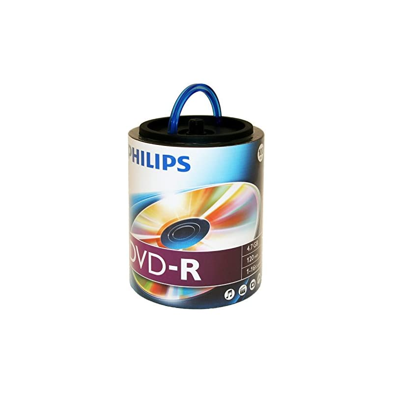 Philips 16X DVD-R Media 100 Pack in Spin