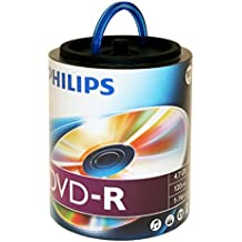 Philips 16X DVD-R Media 100 Pack in Spindle Handle (DM4S6H00F/17)