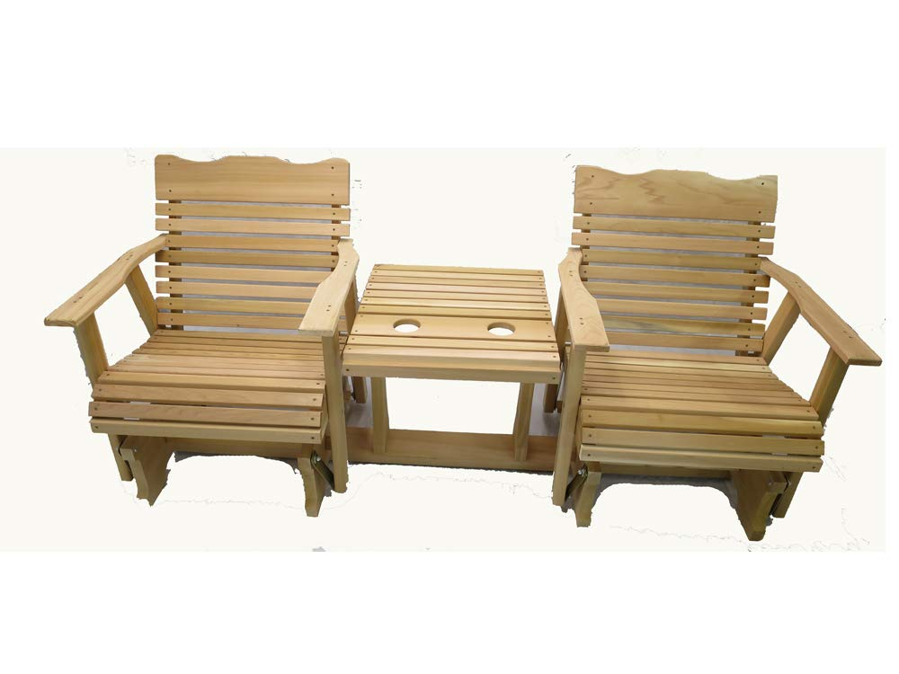 Kilmer Creek 6' Natural Cedar Settee Glider, Amish Crafted by Kilmer Creek