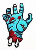 Nipitshop Patches Scary Blue Hand Ghost Halloween