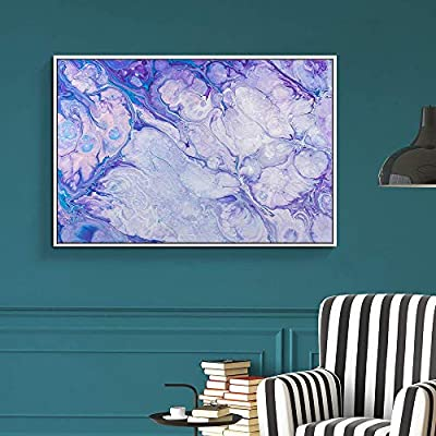 Gorgeous Artisanship, Classic Artwork, Floating Framed for Living Room Bedroom Abstract Colorful Painting for