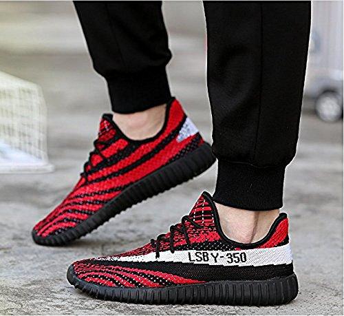 Die Art- und Weiseturnschuhe 350 der Männer, die laufende Schuhe für athletische Sport-Turnhallen-zufällige laufen lassen Knit Rot Schwarz