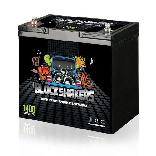 Black 12V 55AH 1400 Watts M6/T6 Car Audio Battery replaces XS D1200 S1200 (Best Car Stereo Battery)