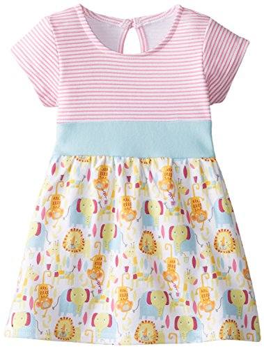 (Zutano Baby-Girls Newborn Jungle Boogie Banded Waist Dress, Multi, 24 Months)