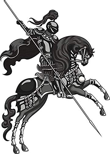 Cool Medieval Knight in Shining Armor and Horse Cartoon (12